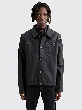 Telfar PU Detachable Jacket Black