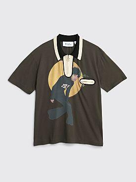 Telfar Zip Polo T-shirt Black