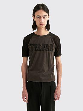 Telfar Raglan Mesh Panel T-shirt Black