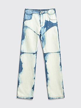Telfar 3-Panel Straight Leg Jeans Bleach
