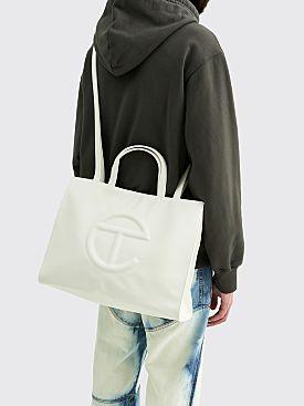 Telfar Medium Shopping Bag White