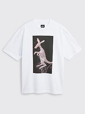 The Trilogy Tapes Tinfoil Kangaroo T-shirt White