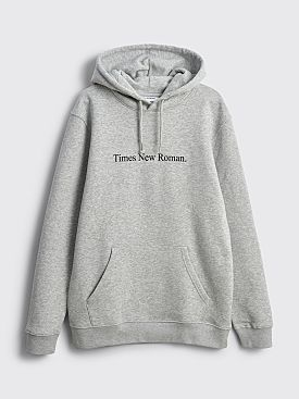 Times New Roman. Original Hooded Logo Sweater Grey
