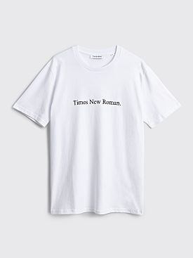 Times New Roman. Original Logo T-shirt White