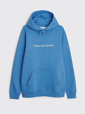 Times New Roman. Hooded Sweater Original Blue