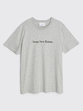 Times New Roman. T-shirt Original Grey