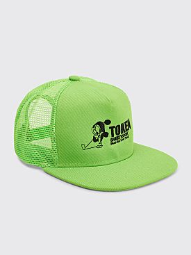 Token Sheetrock Trucker Hat Neon Green