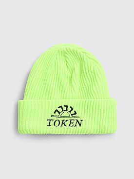 Token Sun Raw Beanie Neon Yellow