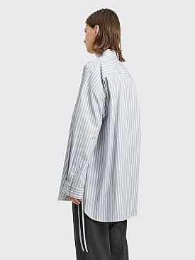 Toironier Loose Shirt Stripe Blue