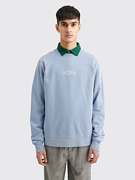 Très Bien / Sneeze Logo Crewneck Sweater Stone Blue