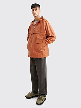 Très Bien / Sneeze Chesterfield Leather Anorak Jacket Cognac