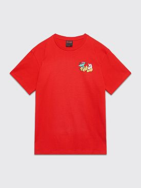 Très Bien Souvenir Green Dog Logo T-shirt Red
