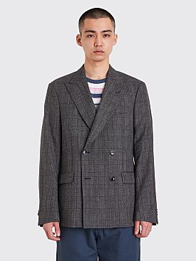 Très Bien Double Breasted Jacket Grey Checks