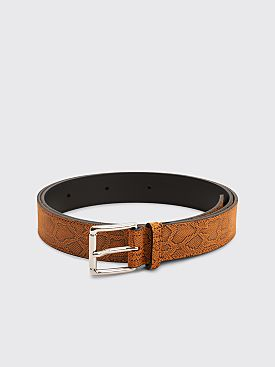 Très Bien Leather Belt Snake Tamar Orange