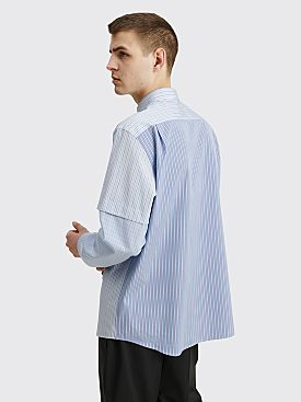 TRES BIEN ATELJÉ Fold Work Shirt Blue Stripe