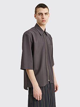 TRES BIEN ATELJÉ Three Quarter Sleeve Zip Shirt Charcoal