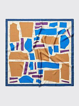 TRES BIEN ATELJÉ Pattern Scarf Silk Multicolor