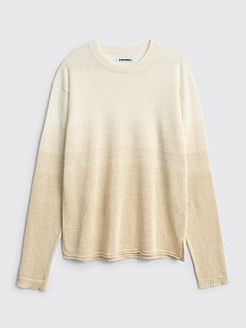 TRES BIEN ATELJÉ Knit Top White Gradient