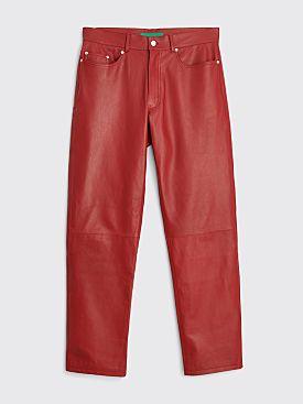 TRÈS BIEN everywear Five Pocket Pant Leather Red