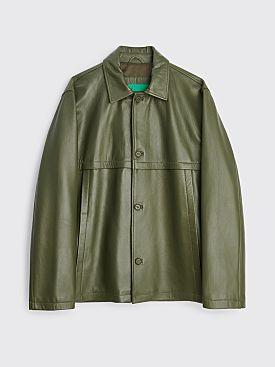 TRÈS BIEN everywear Leather Blouson Green