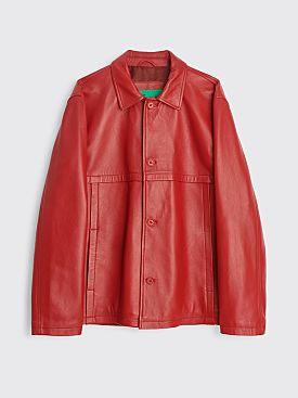 TRÈS BIEN everywear Leather Blouson Red