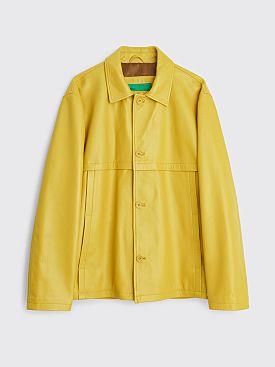 TRÈS BIEN everywear Leather Blouson Yellow