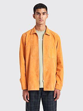 Très Bien Zip Tunic Shirt Suede Orange Ochre