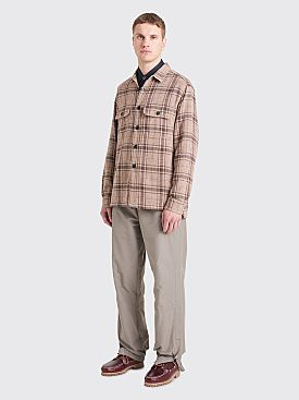 Très Bien Box Overshirt Checks Brown