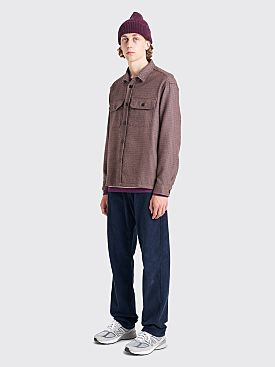 Très Bien Box Overshirt Houndstooth Purple