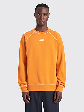 Très Bien Escape Necklabel Sweatshirt Orange Ochre