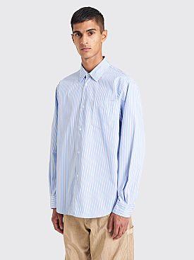 Très Bien Classic Shirt Poplin Blue / White Stripe
