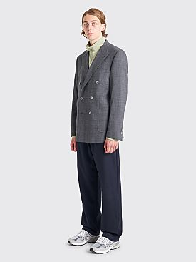 Très Bien Double Breasted Jacket Wool Grey Check