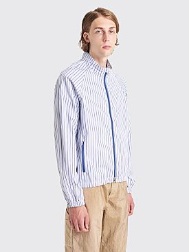 Très Bien Warm Up Shirt Jacket Stripe White / Blue
