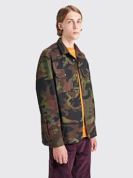 Très Bien Box Overshirt Heavy Cotton Ripstop Floral Camo