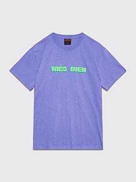 Très Bien Souvenir T-shirt Chubby Font Purple