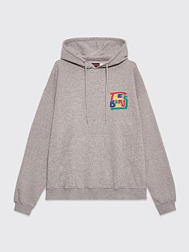 Très Bien Souvenir Hood Hands Logo Grey Melange