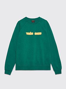 Très Bien Souvenir Sweatshirt Chubby Font Green