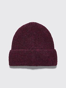 Très Bien Beanie Hat Boucle Aubergine