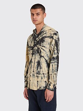 Très Bien x Gitman Bros. Tie Dye Hooded Shirt Natural / Black