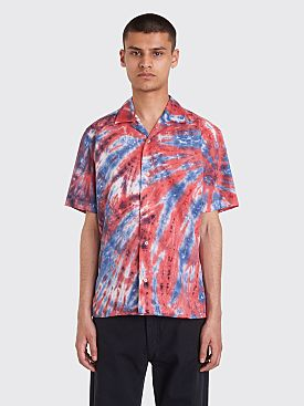 Très Bien x Gitman Bros. Tie Dye Camp Shirt Red / Blue