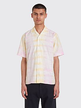 Très Bien x Gitman Bros. Tie Dye Camp Shirt Pink / Yellow