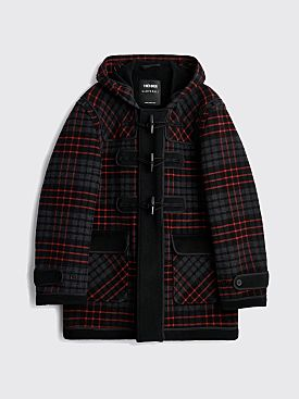 Très Bien x Gloverall Monty Duffle Coat Inside Out Wool Tartan Black