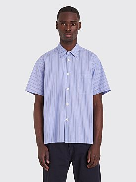 Très Bien Tourist Shirt Fine Poplin Blue Stripe