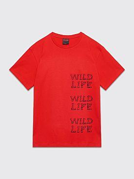 Très Bien Souvenir Wildlife T-shirt Red