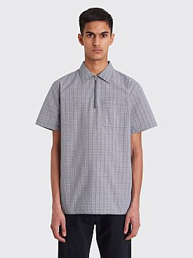 Très Bien Camp Shirt Small Checks Blue