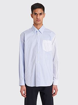 Très Bien Classic Shirt Heavy Poplin Checkered Blue