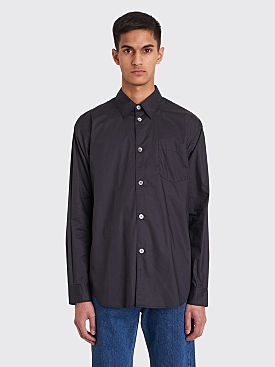 Très Bien Classic Sport Coated Shirt Dark Navy