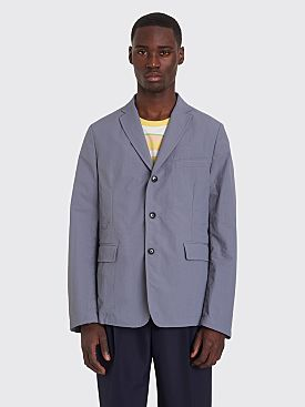 Très Bien Box Jacket Tech Dry Nylon Pale Blue Grey