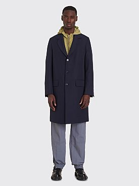 Très Bien Tailored Coat Tropical Wool Dark Blue