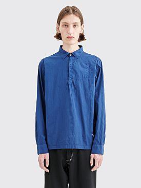 Très Bien Rugby Light Seersucker Shirt Blue